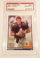 Brett Favre ROOKIE PSA 10 Green Bay Packers / Falcons 1991 Upper Deck #647