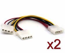 2x Cable Adaptateur doubleur MOLEX 20cm Molex male to 2x female Molex splitter
