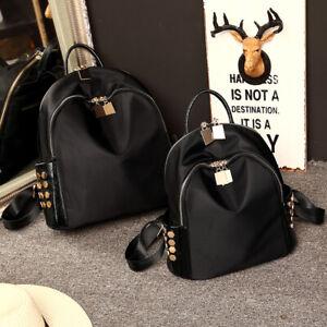 Water Resistant Nylon Stud Small Mini Backpack Rucksack Travel Bag Purse Daypack