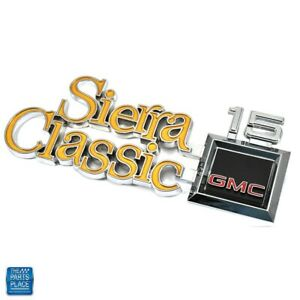 1977-1980 GMC Sierra Classic 15 New Fender Emblem GM 351833 EA Limited Stock