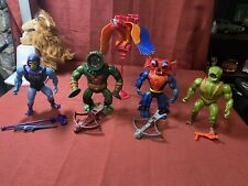 vintage he-man motu action figures lot complete see pictures