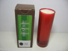 1 MIXTURE Brand Soy Candle Scented #14 Black Pepper, Red Glass Votive NIB lot