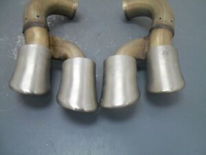 2008 08 09 10 Porsche Cayenne Turbo Quad Exhaust Tips #7332