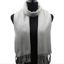 Women Pashmina Scarf Classic Solid Long Soft Warm Cashmere Silk Wool Shawl Wrap