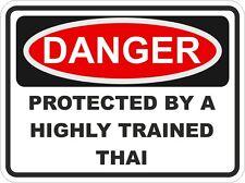 Cat Breed THAI Danger Sticker Pet For Bumper Locker Car Door