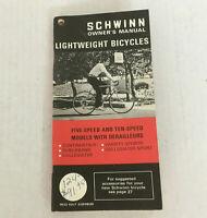 Vintage 1972 Schwinn owner's manual for lightweight bicycles