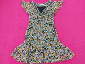 Women's Zara Basic Ladies V-neck Floral Dress Fit and Flare Multi Size S