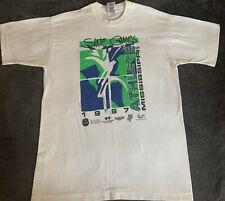 Vintage 1997 Mississippi State Games Athlete Single Stitch T-Shirt