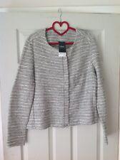 Next black, white mixed weave slightly sparkly jacket size 14 BNWT (B4)
