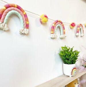 Rainbow Garland, Rainbow Garland Nursery, Rainbow Kids Party Decoration Banner