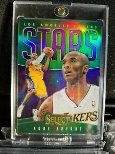 2013-14 kobe bryant panini select stars green #/5 prizm holo flawless refractor