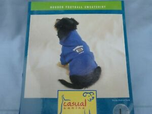 DOG/Pet  HOODED FOOTBALL SWEATSHIRT  by CASUAL CANINE size Large  NEW blue