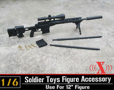 """Zy Toys 1/6 Scale Remington Msr Sniping Rifle12"""" Figure Soldier Weapon Model"""