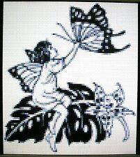FAIRY AND BUTTERFLY ~ Counted Cross Stitch KIT #K1172