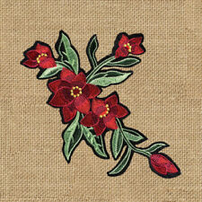 1pc Large Flower Embroidered Patch Cloth Iron On Applique craft sewing #1527