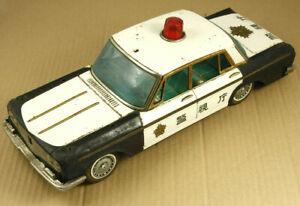 Yonezawa Police Tin Car Made in Japan RARE