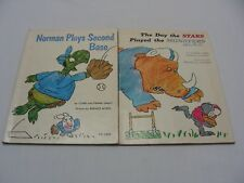 LOT OF TWO SCHOLASTIC RETRO BOOKS! NORMAN PLAYS 2ND BASE - STARS PLAYED MONSTERS