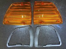MERCEDES SL, W107 2X Blinker Blinkerglas mit 2 X Dichtungen rechts links mit E1