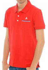 Polo T-shirt Le Coq Sportif Tricolores Pavot Uomo Mezza Manica Rosso Tag. XS S M