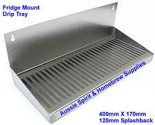 Brand New Stainless Steel Drip Tray Beer Home Brew Fridge Mount Splashback 40 Cm