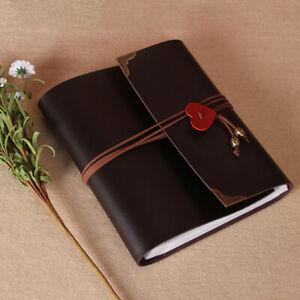 Fotoalbum zum Selbstgestalten Leder Scrapbook Album Schwarze Seiten Fotobuch