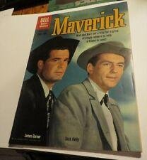 Maverick Dell Comics #9 Classic Western Tv Show Photo Cover James Garner 1960 Aa