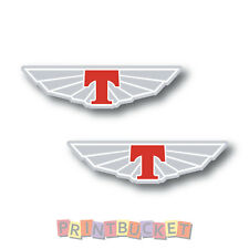 Tickford red wing sticker 75mm 2 pack quality water & fade proof vinyl badge