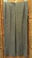 Talbots Woman Womens Classic Fit Dress Pants Size 14W Blue Tweed Cotton Blend