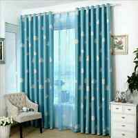 3 layer Kids Baby Boy's Girl's Room Blockout Eyelet Curtains Blue Pink Drapes