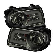 Chrysler 05-10 300C Smoke DRL Tube LED Projector Headlights C Sedan C SRT-8