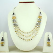 Necklace & Earrings 45 Grams Natural Citrine Gemstone Beaded Beautiful Charming