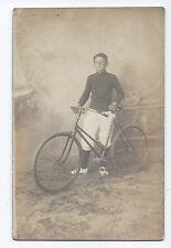 BM794 Carte Photo vintage card RPPC Vélo bike enfant kid