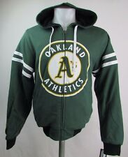 Oakland Athletics Men's Reversible Mid Weight Cloth Hoodie MLB Green