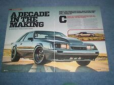"1986 Mustang GT Hatch Drag Car Article ""A Decade in the Making"""