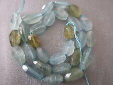 Chinese Aquamarine Faceted Freeform Nuggets Beads 28pcs