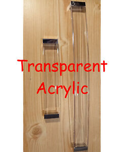 Transparent/Clear Acrylic Door Drawers Handles Cabinet Cupboard Large Wide US002