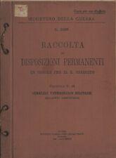 Raccolta di disposizioni permanenti in vigore per il Regio Esercito