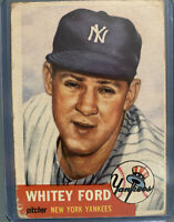 1953 Topps Set Break #207 Whitey Ford New York Yankees