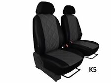 FIAT SCUDO 1+1 from 2007 ECO LEATHER HIGH QUALITY EMBOSSED SEAT COVERS