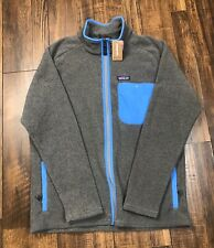 PATAGONIA MEN'S KARSTENS SYNCHILLA JACKET LARGE GRAY/BLUE NWT$139 Brand New