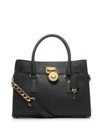Michael Kors Hamilton Satchel Bag with Gold Chain-Black-NEW w/tags & dust bag