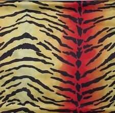 2 FABRIC REMNANTS GOLD TIGER PRINT SILKY TOUCH