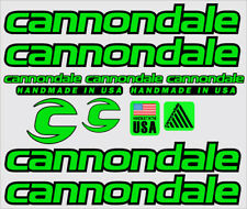 CANNONDALE HANDMADE IN USE STYLE FRAME STICKERS DECALS adesivos Aufkleberv