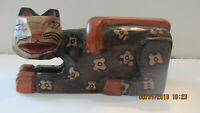 Mexican Cat Folk Art Wood Carved