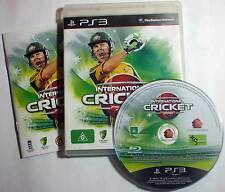 International Cricket 2010 for PS3 - complete - great cond. - posted free