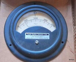 Alnor instrument Co. Antique Pyrometer Used Miami Florida USA