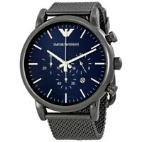 Emporio Armani Men's AR1979 Blue/Dark Grey Stainless Plated Quartz Dress Watch