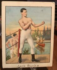 1911 Mecca Cigarettes Boxing Card Jack Burke 🔥🔥🔥