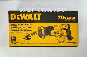 DeWalt DCS387B 20V MAX Compact Cordless Reciprocating Saw (TOOL ONLY)