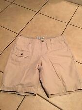 Columbia Womens Shorts Size 6 Khaki Beige Burmuda Golf Cotton